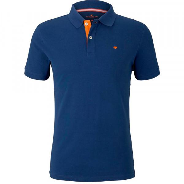 Tom Tailor Poloshirt dunkelblau in klassischer Schnittform