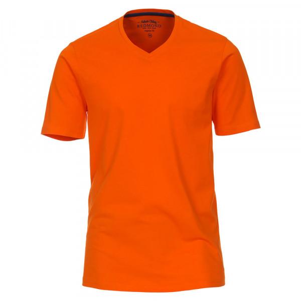 Redmond T-Shirt orange in klassischer Schnittform