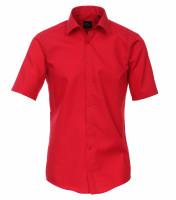 Venti Hemd MODERN FIT UNI POPELINE rot mit Kent Kragen in moderner Schnittform