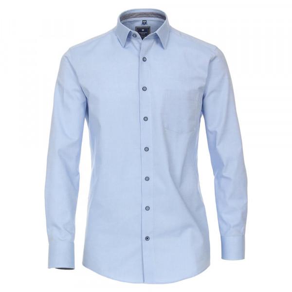 Redmond Hemd REGULAR FIT STRUKTUR hellblau mit Kent Kragen in klassischer Schnittform