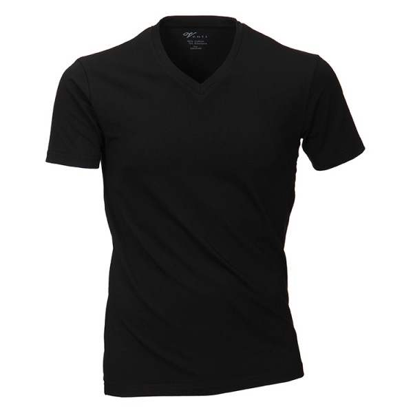 Venti T-Shirt in schwarz mit V-Ausschnitt im Doppelpack