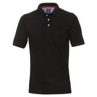Redmond Poloshirt schwarz in klassischer Schnittform