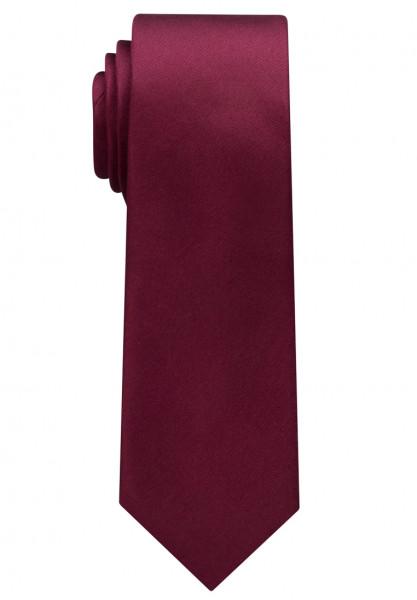 Eterna Krawatte dunkelrot unifarben