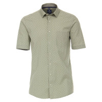 Redmond COMFORT FIT Hemd PRINT grau mit Kent Kragen in klassischer Schnittform