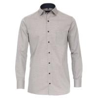 CASAMODA Hemd COMFORT FIT STRUKTUR grau mit Kent Kragen in klassischer Schnittform