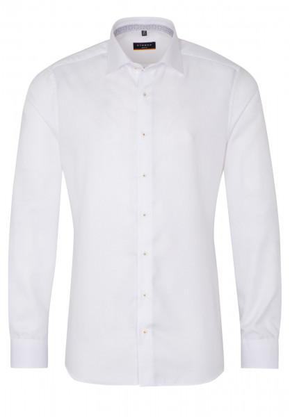 Eterna Hemd SLIM FIT STRUKTUR weiss mit Classic Kent Kragen in schmaler Schnittform