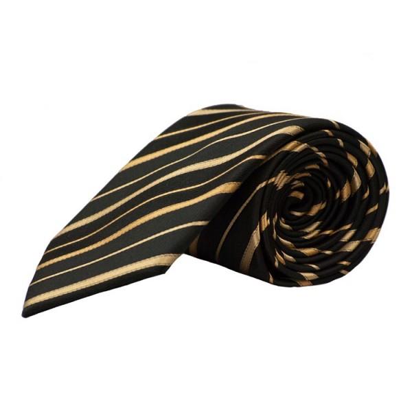 Parsley Krawatte schwarz gestreift