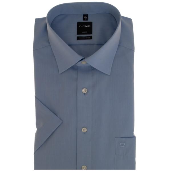 OLYMP Luxor modern fit Hemd CHAMBRAY hellblau mit New Kent Kragen in moderner Schnittform