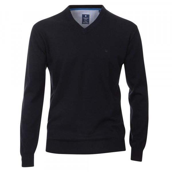Redmond Pullover dunkelblau in klassischer Schnittform