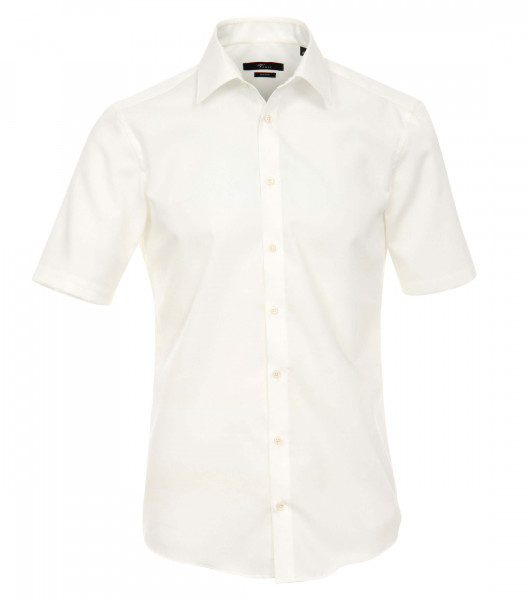 Venti Hemd MODERN FIT UNI POPELINE beige mit Kent Kragen in moderner Schnittform