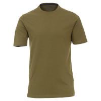Redmond T-Shirt hellbraun in klassischer Schnittform