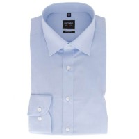 OLYMP Level Five body fit Hemd CHAMBRAY hellblau mit New York Kent Kragen in schmaler Schnittform