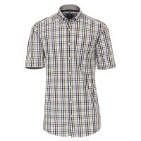 Redmond COMFORT FIT Hemd UNI POPELINE grau mit Button Down Kragen in klassischer Schnittform